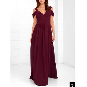 Lulus Make Me Move Dress in Burgundy (XS)